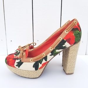 Milly for Sperry Top Sider Floral Wedge Heels